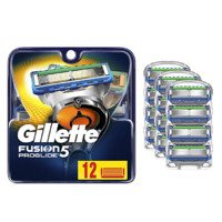 Gillette 吉列 Fusion5 ProGlide 锋隐致顺 手动剃须刀头 12个