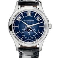 Patek Philippe 百达翡丽 复杂功能时计系列 5205G-013 月相白金腕表