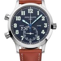 Patek Philippe 百达翡丽 复杂功能时计系列 5524G-001 飞行家旅行时间白金腕表