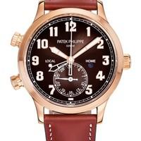 Patek Philippe 百达翡丽 复杂功能时计系列 5524R-001 飞行家旅行时间玫瑰金腕表