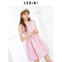 LED'IN 乐町 C1FA53304 女士无袖条纹连衣裙