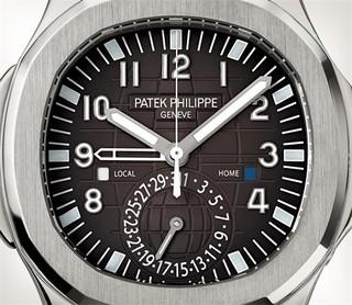 Patek Philippe 百达翡丽 AQUANAUT系列 5164A-001 旅行时间系列不锈钢腕表