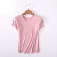 圣大保罗 PU-3630 圣大保罗春夏女士圆领无痕短袖T恤 粉色 L *5件