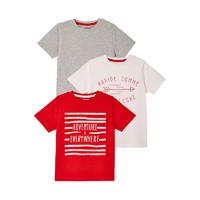 vertbaudet ?#21512;男?#21697; 法国进口男童T恤4-14岁三件装 *3件