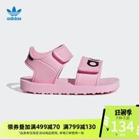 阿迪达?#26500;?#26041;三叶草 BEACH SANDAL I婴童凉鞋CG6603 CG6602