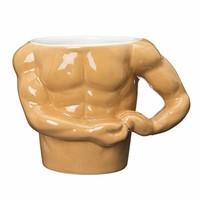 sunart 有趣食器 肌肉马克杯 330ml