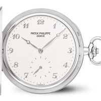Patek Philippe 百达翡丽 980G-010 白金款式银质字块猎式怀表