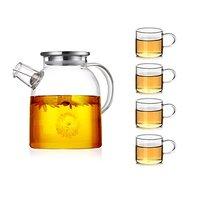 玻璃带盖茶壶+4杯 1800ml
