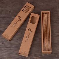 鸡翅木筷子 家用日式无漆无蜡红木实木餐具10双家庭套装  (鸡翅木筷2盒)