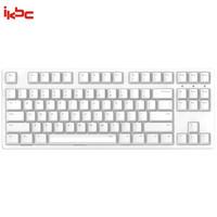 ikbc W200 机械键盘 2.4G无线 游戏键盘 87键 原厂cherry轴 樱桃轴 吃鸡神器 无线机械键盘 白色 茶轴