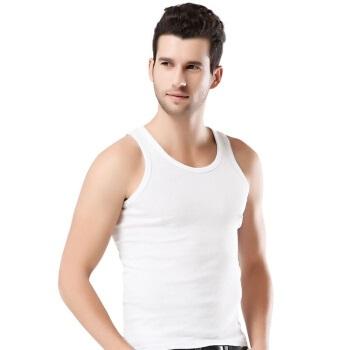 YUZHAOLIN 俞兆林 男士背心男纯棉修身紧身运动夏季休闲打底汗衫健身运动螺纹吊带大 背心男 白 XL (白色、XL、棉)