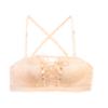 蜜格儿 婚纱女士无肩带文胸聚拢防滑上托少女胸罩美背抹胸蕾丝内衣 W4743 肤色 75B