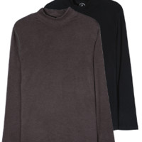 SANTA BARBARA POLO 圣大保罗 男士半高领上衣 保暖内衣上衣 S68315-11 黑色 XL