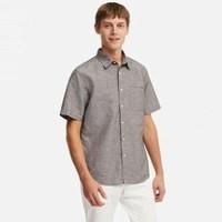 19日0点 : UNIQLO 优衣库 414574 男士麻棉短袖衬衫
