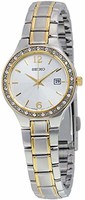 SEIKO 精工 SUR752 銀色表盤不銹鋼女士手表