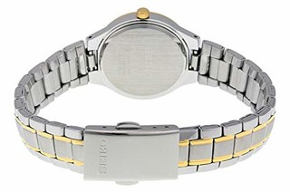 SEIKO 精工 SUR752 银色表盘不锈钢女士手表