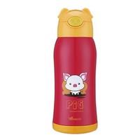 WAYA 华亚 HO13-600 304不锈钢保温杯 600ml 小猪红色