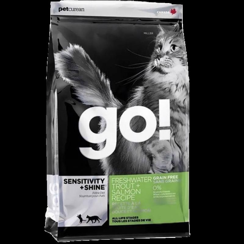 go! 无谷三种鱼全猫粮 8磅