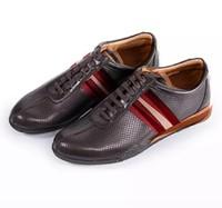 BALLY 系带平底男士休闲鞋休闲皮鞋 6190605 DARK BROWN 14 40