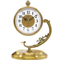 北极星(POLARIS)创意客厅座钟时尚静音卧室现代台钟简约现代金属石英钟表 TZ1515
