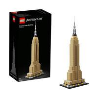 网易考拉黑卡会员:LEGO乐高 建筑系列 21046 帝国大厦 16岁+  1767颗粒