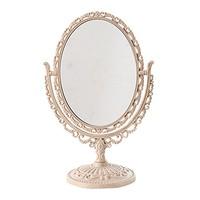 欧式爱心双面化妆镜 便携台式梳妆镜 双面可放大魔术镜子 (魔术镜椭圆)