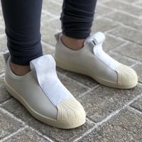 adidas 阿迪达斯 SUPERSTAR BW3S SLIPON 一脚蹬休闲运动鞋 *2件