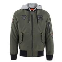 Superdry 极度干燥 PATCH ROOKIE FLIGHT BOMBER M50012DR 男士连帽夹克外套  *2件