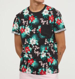 历史低价 : H&M HM0448262 男士印花T恤