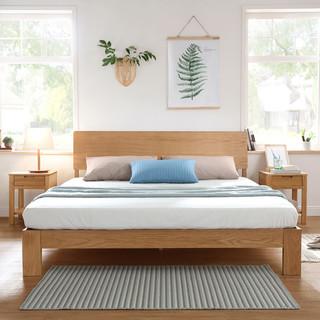 林氏木业 LS046MC1白橡木双人床 1.5米