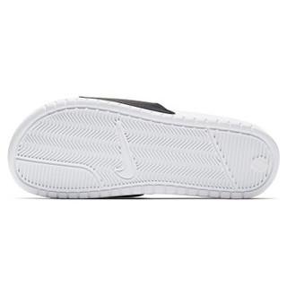 耐克NIKE 男子 拖鞋 BENASSI JDI MISMATCH GEL炫彩字母Logo透气沙滩运动休闲拖鞋 CJ4608-071黑色46码
