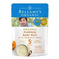 BELLAMY'S 贝拉米 婴幼儿高铁营养辅食 南瓜益生元米粉 125g *10件