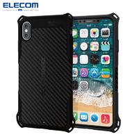 ELECOM 宜丽客 苹果手机壳保护套iPhone XR 黑色