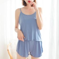 慕锦记 MJJK-5001 女士吊带睡裙套装 吊带+短裤 XL-3XL码