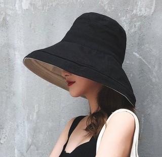 JINUNE Y218-8 女士双面大檐渔夫帽