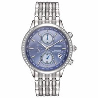 CITIZEN 西铁城 FC5000-51L World Chronograph A-T Blue 女士光动能腕表