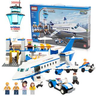 GUDI 古迪 拼装积木 8912 国际机场