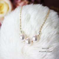 Pearlyuumi Akoya K18金 海水珍珠项链 8-8.5mm