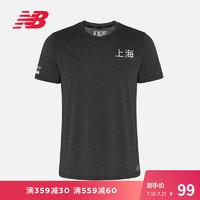 New Balance NB官方2019新款男短袖T恤AMT9104O上海跑系列