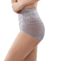 ordifen 欧迪芬 女士塑身内裤蕾丝新品女士三角蕾丝中腰提臀塑裤内裤 XT6103 风悦灰 M
