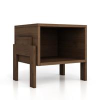 优主意 书架边几角几床头柜凳子 客厅卧室简易多功能可叠加变形 胡桃木色 486mm*400mm*450mm