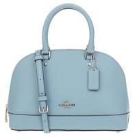 COACH 蔻驰 奢侈品  F27591SVCF 女士皮质蓝色单肩手提包