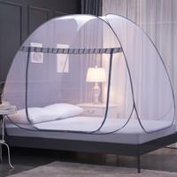 蒙古包蚊帐钢丝全自动防蚊布可折叠快速免安装