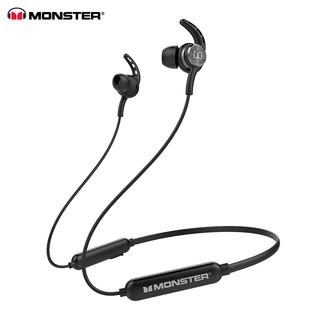 MONSTER 魔声 Monster) isport spirit 无线蓝牙跑步耳机运动耳机魔声线控入耳式挂脖颈挂式 黑色