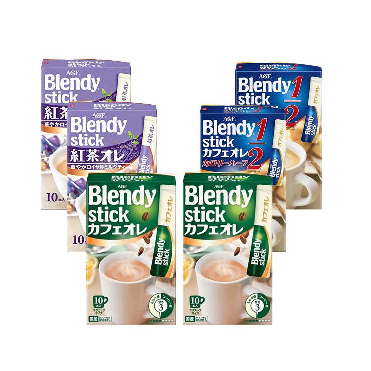 AGF 皇家红茶欧蕾速溶奶茶 10p*2包+牛奶咖啡微糖10p*2包+三牛奶咖啡原味欧蕾10p*2包