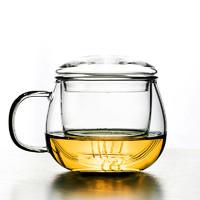 即物 玻璃花茶杯 300ml