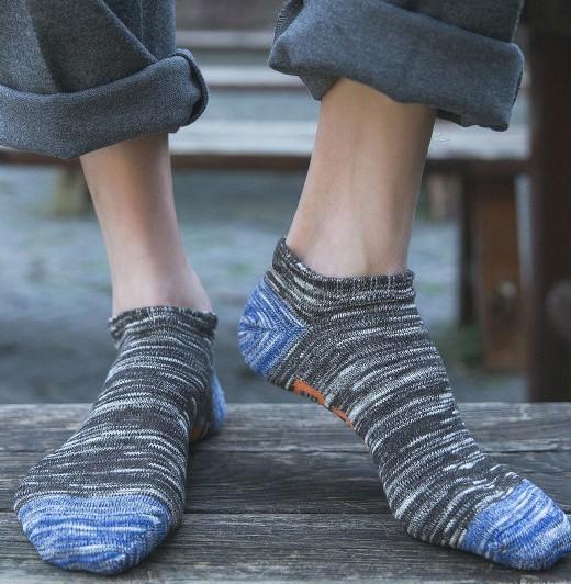 臻丝蕾蔓 男士吸湿透气棉袜 10双装