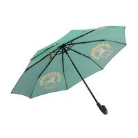 BURBERRY 巴宝莉 男女通用款深森林绿徽章印花聚酯纤维折叠雨伞 40784141