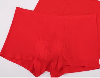 ordifen 欧迪芬 男士内裤男士2条装中腰平角组合内裤 XK8A51 中国红 L