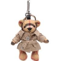 BURBERRY 巴宝莉 80033311 女款羊绒Trench风衣 Thomas泰迪熊钥匙扣吊饰